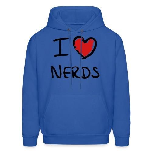 I Love Nerds Men's Hooded Sweater - Men's Hoodie