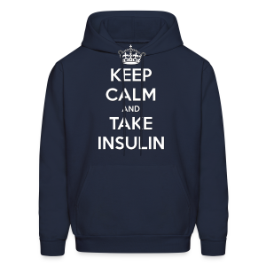 Keep Calm and Take Insulin - White - Men's Hoodie