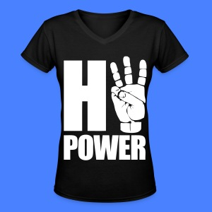 HiiiPower Women's T-Shirts - Women's V-Neck T-Shirt