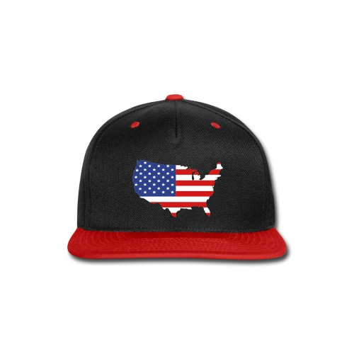 USA Flag - Snap-back Baseball Cap