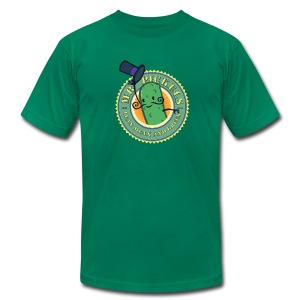 HTF - Mr Pickels - lean mean and green - Men's T-Shirt by American Apparel