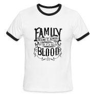 T-Shirts ~ Men's Ringer T-Shirt ~ Family Don't End With Blood