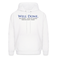 Hoodies ~ Men's Hoodie ~ Well Done You Deserve A Standing Ovation From My Tallest Finger