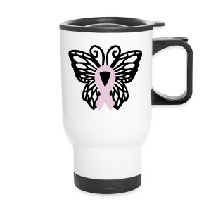 Breast Cancer Butterfly Cup - Travel Mug