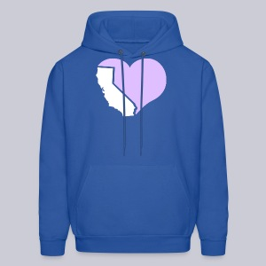 Heart California Heart - Men's Hoodie
