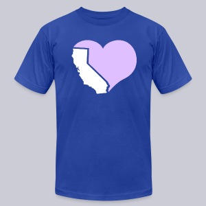 Heart California Heart - Men's T-Shirt by American Apparel
