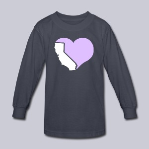 Heart California Heart - Kids' Long Sleeve T-Shirt