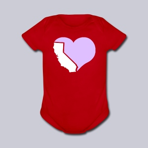 Heart California Heart - Short Sleeve Baby Bodysuit