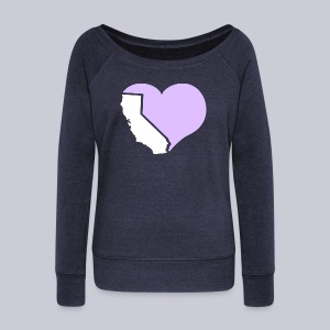 Heart California Heart - Women's Wideneck Sweatshirt