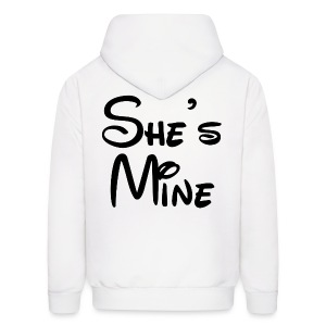 She's Mine (White) - Men's Hoodie