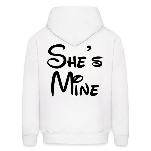 She's Mine (White) - Men's Hoodie