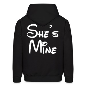 She's Mine (Black) - Men's Hoodie