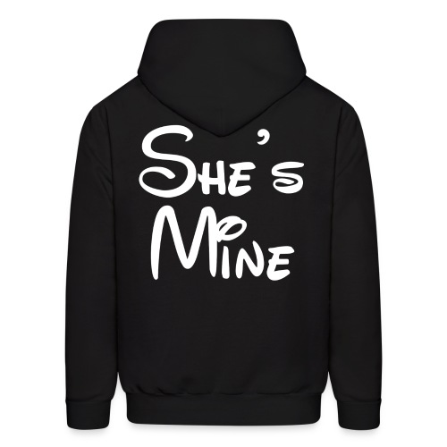 She's Mine (Black) - Men's Hoodie
