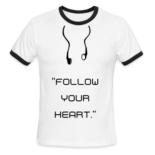 Follow Your Heart T-shirt - Men's Ringer T-Shirt
