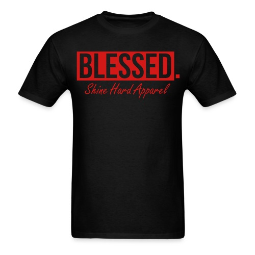 Men's Blessed Tee In Black - Men's T-Shirt