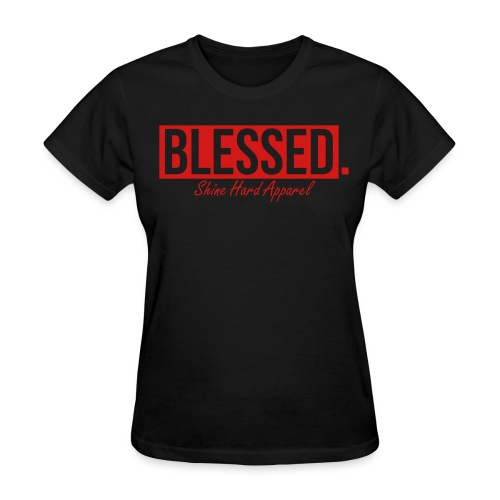 Women's Blessed Tee In Black - Women's T-Shirt