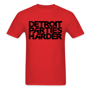 DETROIT PARTIES HARDER - Men's T-Shirt