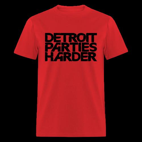 DETROIT PARTIES HARDER - Men's T-Shirt