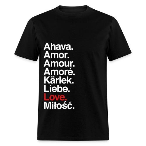 Love in Different Languages - Men's T-Shirt