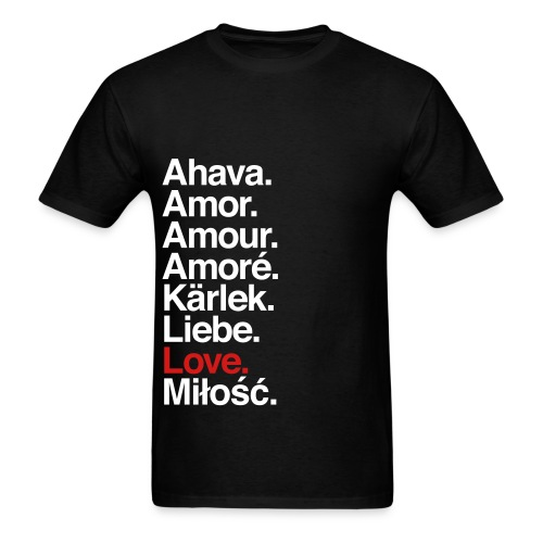 Love in Different Languages - Men's T-Shirt