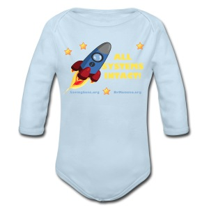 All Systems INTACT! Rocket - Long Sleeve Baby Bodysuit