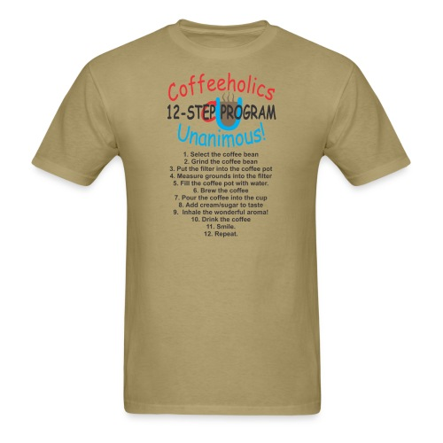 coffeholics 12 step - Men's T-Shirt