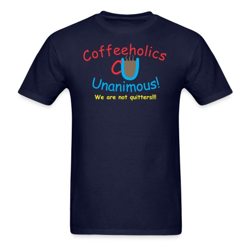 coffeeholics quitters - Men's T-Shirt