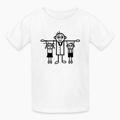 Father with son & daughter Kids' Shirts
