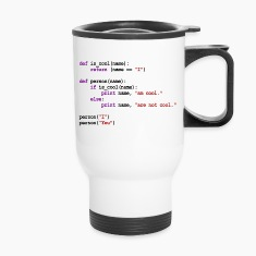 Python Code - I am cool, You are not cool Bottles & Mugs