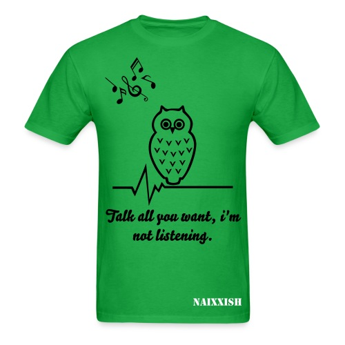 Music Owl mens - Men's T-Shirt