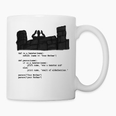 Python Code  - Your Mother was a hamster Bottles & Mugs