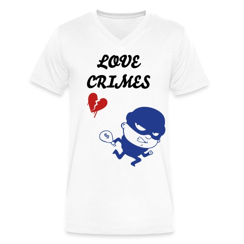love crimes - Men's V-Neck T-Shirt by Canvas