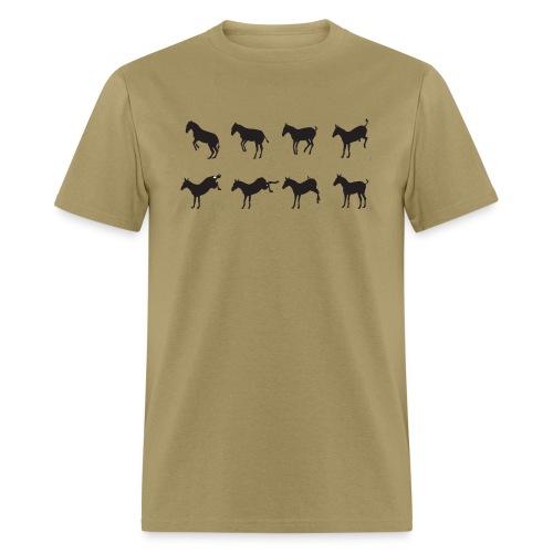 Muybridge inspired donkey jump - Men's T-Shirt