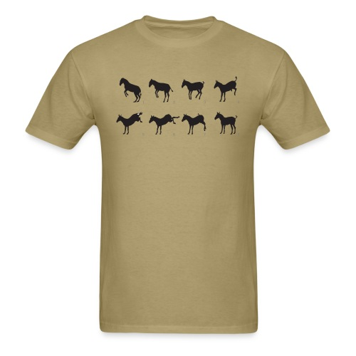 Muybridge inspired donkey jump - Men's T-Shirt