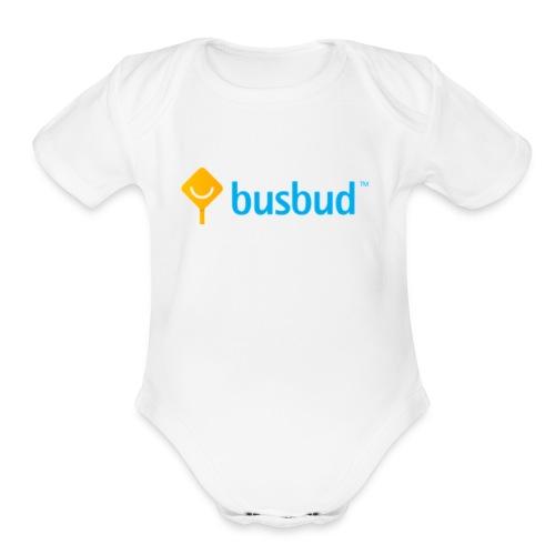 BusBudBaby_ShortSleeveOnePiece - Organic Short Sleeve Baby Bodysuit