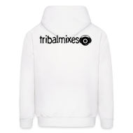 Hoodies ~ Men's Hoodie ~ Love House + Tribalmixes on Back - Overhead Hoodie