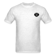 T-Shirts ~ Men's T-Shirt ~ Small Logo Only, Classic design (black on grey)