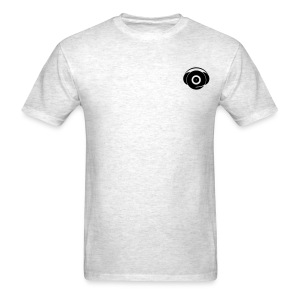 Small Logo Only, Classic design (black on grey) - Men's T-Shirt