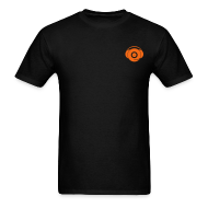 T-Shirts ~ Men's T-Shirt ~ Small Logo Only, Classic design (orange on black)