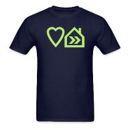 T-Shirts ~ Men's T-Shirt ~ Love Progressive House (Symbolic, L Green on Navy)