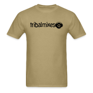 T-Shirts ~ Men's T-Shirt ~ Classic Long/Across Tribalmixes + Logo (design 2, Black)