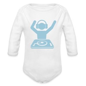 Born To DJ - Long Sleeve Baby Bodysuit