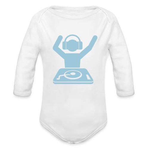 Born To DJ - Organic Long Sleeve Baby Bodysuit