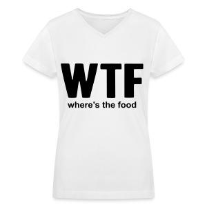 Humor - WTF - Women's V-Neck T-Shirt