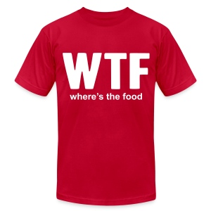 Humor - WTF - Men's T-Shirt by American Apparel