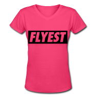 Women's T-Shirts ~ Women's V-Neck T-Shirt ~ Flyest Women's T-Shirts