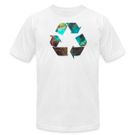 T-Shirts ~ Men's T-Shirt by American Apparel ~ Recycle Stardust Nebula