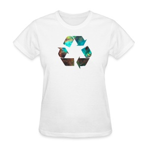 Recycle Stardust Nebula - Women's T-Shirt