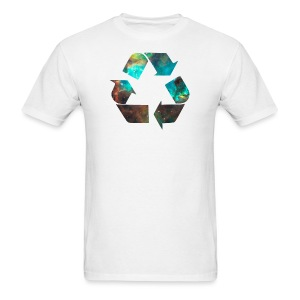 Recycle Stardust Nebula - Men's T-Shirt