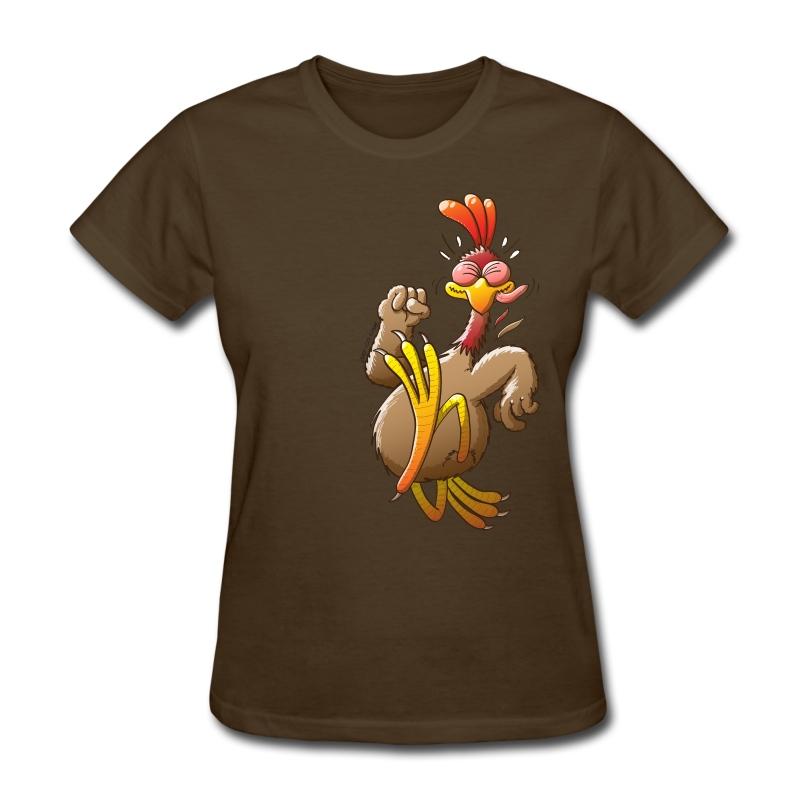 Chicken running t shirt spreadshirt for Women s running shirt